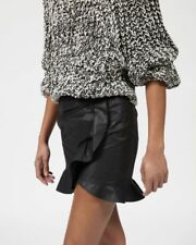 NWT Isabel Marant Mouna Ruffle Skirt in Black Size 38 $445