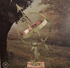 Armillary Sundial with Seahorse Stand Swedish We-Ha