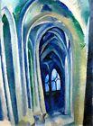 "Robert Delaunay Vintage French Abstract Art CANVAS PRINT Saint Severin 24""X16"""