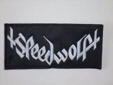 SPEEDWOLF SPEED/METAL PUNK EMBROIDERED PATCH