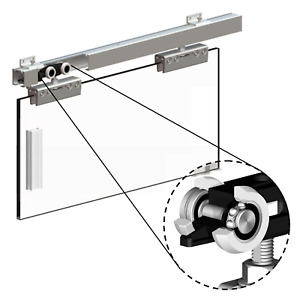Sliding Glass Door Gear Track System HERKULES Internal Single Door Kit 2m 100kg