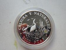 Spain   2000 pesetas silver proof   1994  km 940   27.0000g   Herons