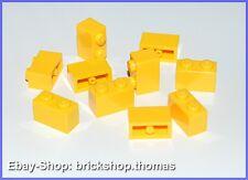 Lego 10 x Basicsteine Bausteine gelb - 3004 - Brick 1 x 2  yellow - NEU / NEW