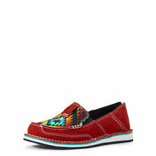 Ariat 10031604 Women's Ruby Suede Cruiser Leather Slip-on Moc Toe Casual Shoes