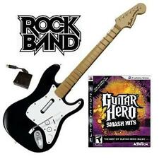 NEW PS3 Rock Band Wireless Fender Stratocaster Guitar & Guitar Hero Smash Hits