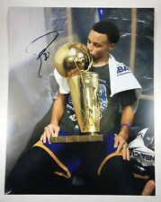 Stephen Steph Curry Warriors Signed Autographed 11x14 Photo