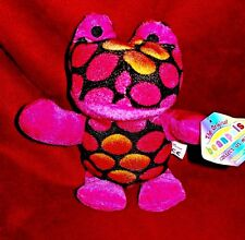 "Plush Pink Frog - Tie dyed - Original Beanpals from Kellytoy B980 w/tag  8"" 2014"
