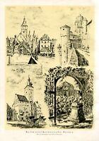 Malerisches Unterfranken Würzburg XL Kunstdruck 1928 von Alfred Stroedel Franken