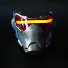 Overwatch OW Soldier Cosplay 76 Luminous Mask Helmet Light-up Halloween Mask New