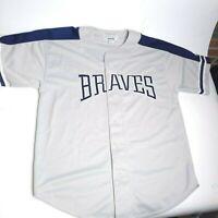 Vintage Atlanta Braves Starter Baseball Jersey Dale Murphy Men's Size Large Gray