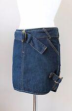 DOLCE & GABBANA en coton mélangé Mini-jupe en jean ceinture IT38 UK6 US0