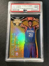 JOEL EMBIID 2014 TOTALLY CERTIFIED #143 PLATINUM MIRROR GOLD ROOKIE RC /10 PSA 9