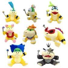 8x Super Mario Bowser Koopa Kids Baby Jr Koopalings Larry Lemmy Ludwig Plush Toy