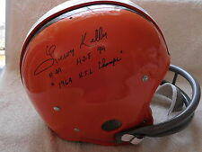 Leroy Kelly signed T B Browns  F/S  Custom helmet, COA, HOF 94, #44, 1964 NFL Ch