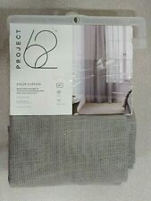 """PROJECT 62 SHEER CURTAIN GRAY OPEN WEAVE (54"""" W x 84"""" L) (NEW)"""