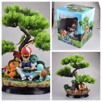 Anime Pokeball Ash Ketchum with Pikachu PVC Action Figure Collectible Model Toys