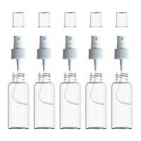 5 PCS 50ml, 100ml Empty Clear Mist Plastic Perfume Spray Bottle