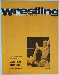 British Wrestling Programme 26/9/1972 Zoltan Boscik Tony Charles