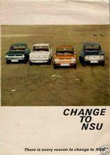 NSU Prinz 4 1000 1200 TT TTS 1968-69 UK Market Foldout Sales Brochure