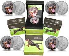 100 x Niue 1 Oz Silber German Rottweiler 2015 Etui *Watch and Guard Dogs Serie*