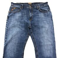 Ariat M3 Athletic Fit Jeans Mens 40x32 Distressed Med Wash 100% Cotton