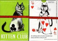 Kitten Club Cat Playing Cards Poker Size Deck Cartamundi Custom Limited Edition
