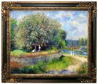 Renoir Chestnut in Blossom 1881 Framed Canvas Print Repro 20x24