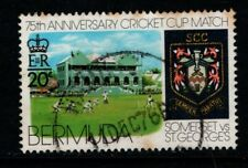 Bermuda 1976 20c Cricket Match SG369 Used see note