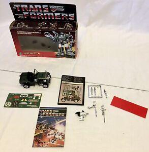 Original!! NO RESERVE!! Transformers G1 Hound Jeep With Box!