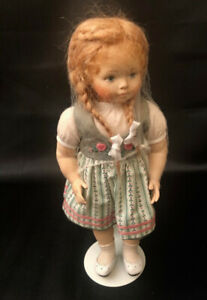 """Erika Catellani Doll - Swiss Hand Carved Maple Hand Painted """"Kathrin"""" 11 of 25"""