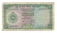 Ceylon - Ten (10) Rupees, 1958