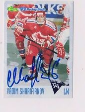93/94 Classic Draft Hockey Vadim Sharifianov Ufa Slvt Autographed Hockey Card