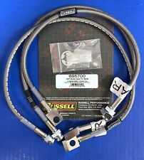 "Russell Stainless Brake Hose Line Kit 1989-98 Chevy GMC K1500 K2500 4WD 4"" Lift"