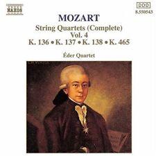 Eder Quartet, W.a. M - String Quartets 136-138 & 465 [New CD]