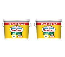 2 for £56.99 - Sandtex Pure Brilliant White - Masonry Paint 7.5L - Ultra Smooth