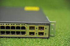 Cisco WS-C3750-48PS-S Catalyst 3750 48-Ports POE Switch w/Latest IOS - 1YrWty