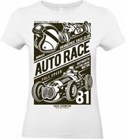 Auto Race T-Shirt grand prix car racing championship formula 1 Womens Ladies top
