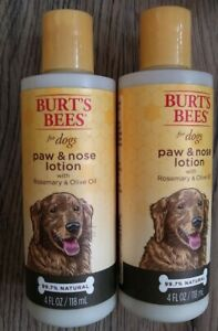2X Burt's Bees for Dogs Paw & nose Lotion 4 oz Each w/ rosemary olive oil