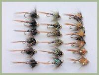 16 Mixed Mop Flies both Goldhead /& Fritz Collar Size 8,Mixed Colours Mop Flies