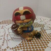 Vintage 1978 Garfield Football Player Miniature Ceramic Figurine - Enesco