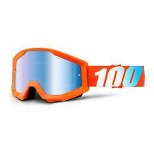 100 MX Goggle Strata Orange Mirrored Glass Enduro Motocross MX Goggles