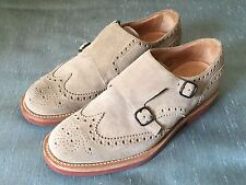 Church's Custom Grade Kelby Suede Monk Strap Full Brogue Wingtip 8