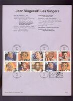 #2854-2861 1994 29c Blues and Jazz Singers USPS #9427 Souvenir Page