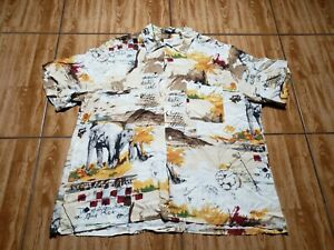 Brioni Sport Button Up Shirt Adult XL White Elephant Italy Camp Casual Mens