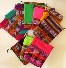 40 JEWELRY POUCHES BAGS FROM PERU, VERY COLORFUL, MEDIUM