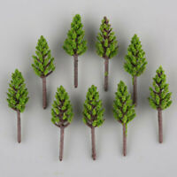 100pcs N/Z Scale 1:150~1:220 Model Green Pine Trees For Building Street Layout