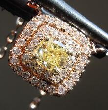 .45ct Fancy Yellow SI2 Cushion Cut Diamond Pendant GIA R6861 Diamonds By Lauren