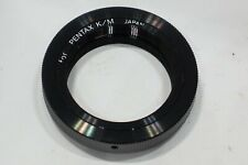 Pentax K fit T2 mount, fits PK camera & T2 lens