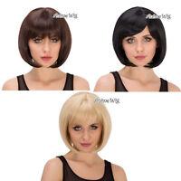 Lolita Short 30CM Fashion Women Party Bob Style Cosplay Full Hair Wig 3 Colors