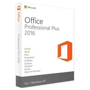 Microsoft Office 2016 Professional Plus Retail Produktkey